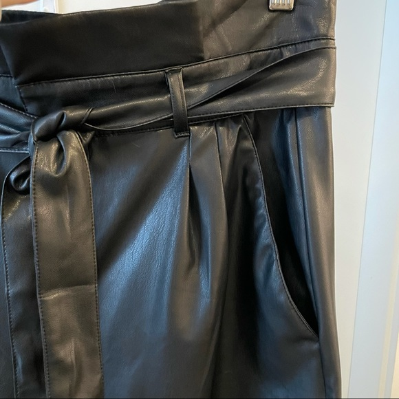Joe Fresh Faux Leather high waisted trousers